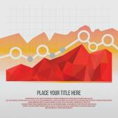 Editable business diagram graph chart — Stock Vector