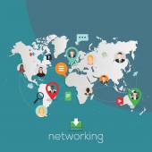 Global networking illustration. — ストックベクタ