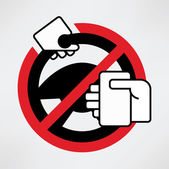 Using phone while driving is prohibited — Stock Vector