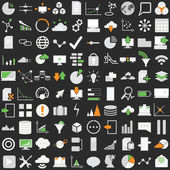 Set of one hundred technology  icons — Stock Vector