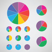 Pie charts illustration. — Stock Vector