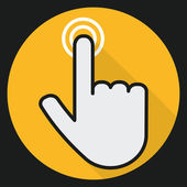 Hand touch  icon design — Stock Vector