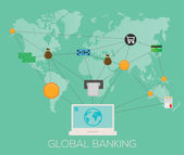 Global banking illustration — Stock Vector