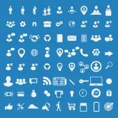 Big set of business icons. — Stock Vector