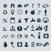 Industry icons set. — Stock Vector