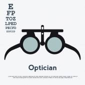 Optician glasses and board — Vector de stock