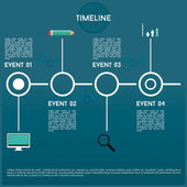 Timeline with four events — Stock Vector