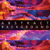 Abstract low poly background. — Stock Vector