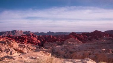 Moving clouds at Valley of Fire state Park — Stock Video