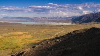 Shadow of Clouds Formation over Mono Lake — Stock Video