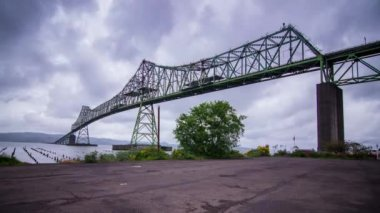 Megler Bridge in Astoria, Oregon — Stock Video
