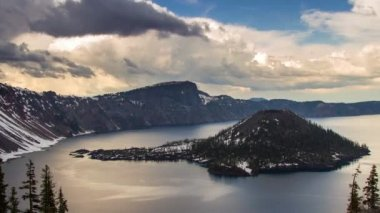 Clouds Formation at Crater Lake — Stock Video