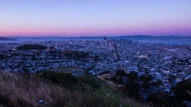 Day to Night Time Lapse of San Francisco — Stock Video