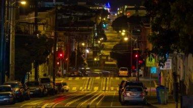 San Francisco Cable Car at Night — Stock Video