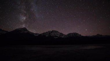 Night view of Milky way — Stock Video
