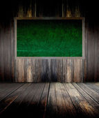 Abstract the green blackboard on grunge wall — Fotografia Stock