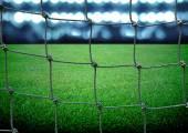Soccer field and the bright lights — ストック写真