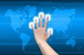 Ręczne przesuwanie — Zdjęcie stockowe
