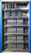 The communication and internet network server room — Stock Photo
