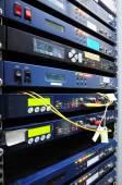 Kommunikation och internet network serverrum — Stockfoto