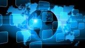 Fondo de tecnología del mundo abstracto — Foto de Stock