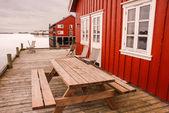 Rorbuer in Lofoten Islands — Stock Photo