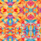 Vivid geometric mosaic vector seamless pattern — Stock Vector