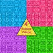Mosaic vector seamless pattern. — Stock Vector