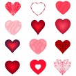 Set of varied vector hearts. — Stock Vector #64343547