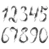 Dirty grunge set of numerals. — Stock Vector