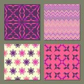 组 4 抽象无缝模式 — 图库矢量图片