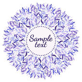 Purple watercolor  floral ornament on the white background — Stock Photo