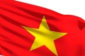 Viet Nam Flag is waving — Stock Photo