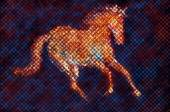Horse mosaic painting — Stock Photo