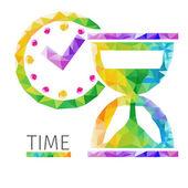 Time polygon vector — Stock vektor