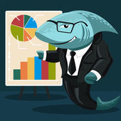 Shark of business — Stock Vector
