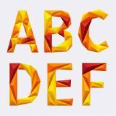 Vector abstract alphabet — Stock Vector