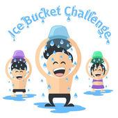 Ice bucket challenge — Stock Vector