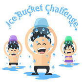 Ice bucket challenge — Stock Vector