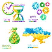 Time, money, gears, ukraine — Stock Vector
