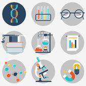 Objeto de plano de educação e ciência — Vetor de Stock