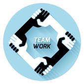 Team work. vector — Stock Vector