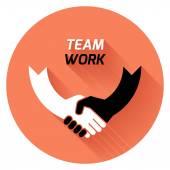 Best deal. team work. vector — Stock Vector
