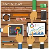 Business plan — Stock Vector