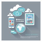 Social networks — Stock Vector