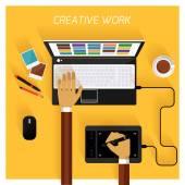 Equipo creativo — Vector de stock