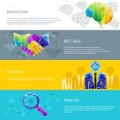 idea light bulb, human brain, handshake, deal, success, cup — Stok Vektör