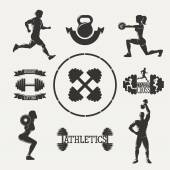 Vector fitness set — Stockvector