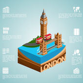 Isometry city London — Stock Vector