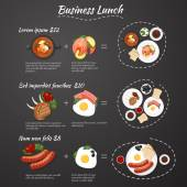 Business lunch menu — Stock Vector